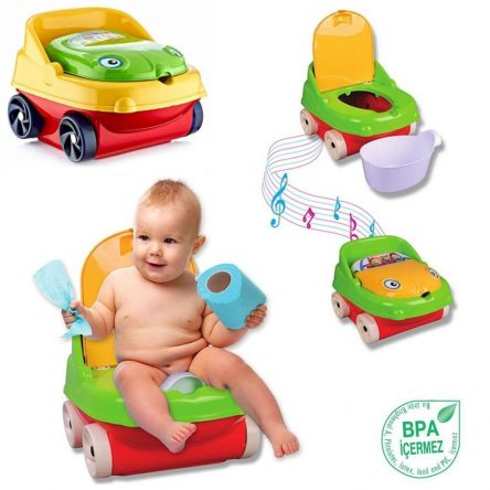 Frog Potty Training Seat Musical Lid Alarm