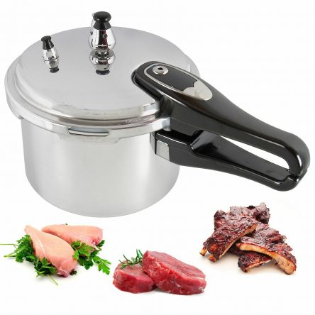 9Litre Aluminium Pressure Cooker Quality Four Safety Valves
