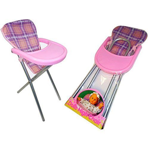 Girls Dolls Feeding High Chair Toy