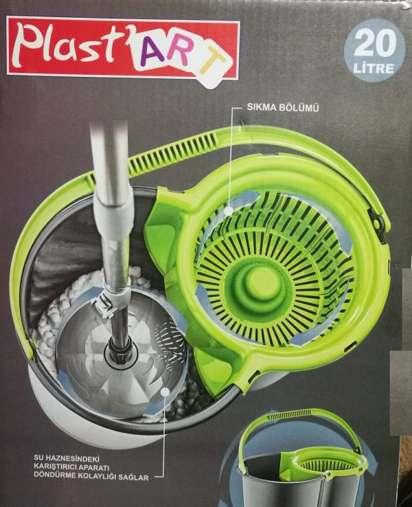 magic spinning mop bucket