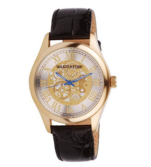 Mastertime Leather Strap Watch