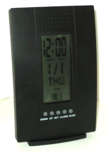 Weather Station Bedside Alarm Black