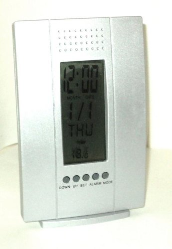 Weather Station Bedside Alarm Silver