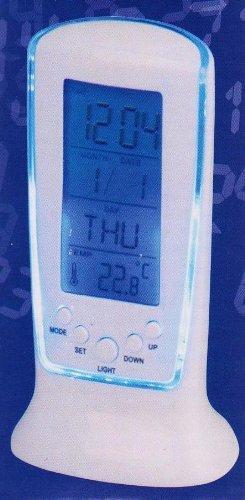 blue led wecker alarm clock