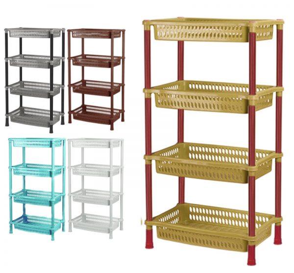 kitchen 4 tier shelf storage