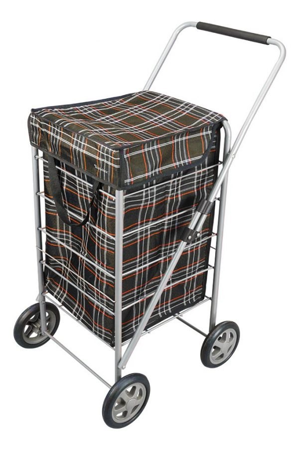 xplorer Shopping Trolley Black Tartan
