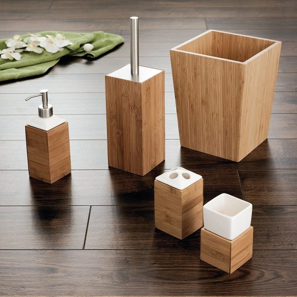 bamboo toilet set
