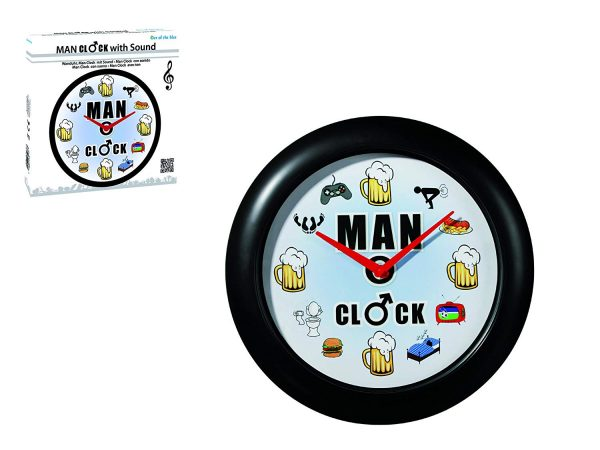 Man Wall Clock With Sound