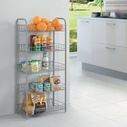 Monaco 5Tier Metal Vegetable Fruit Storage Rack Trolley