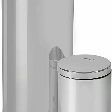 Swan 2 in 1 Stainless Steel 30L + 5L Waste Bin