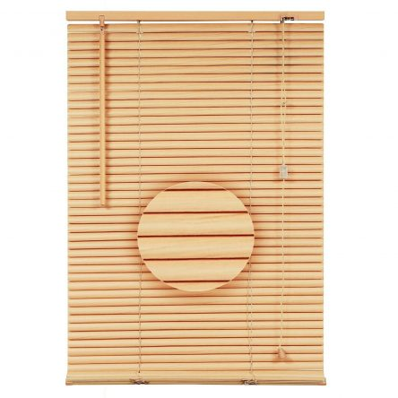PVC Venetian Blinds Natural /Wooden 45 x 150cm