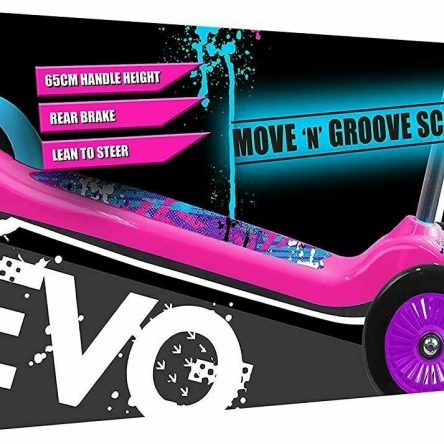 Evo Move & Groove 3 Wheels Pink Girls Scooter