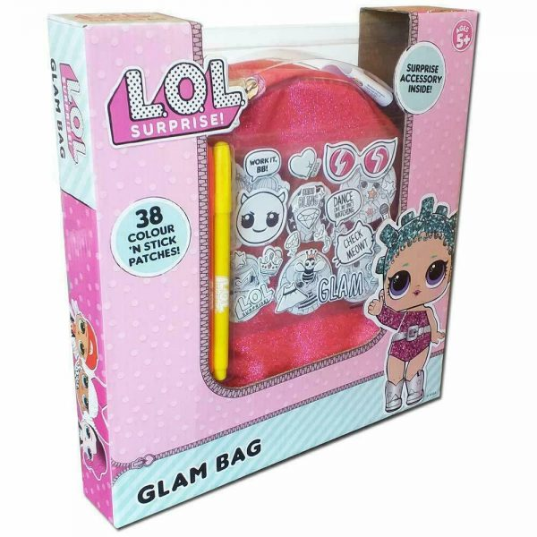 Lol Surprise Glam Bag With 38 Colours & stick Patches