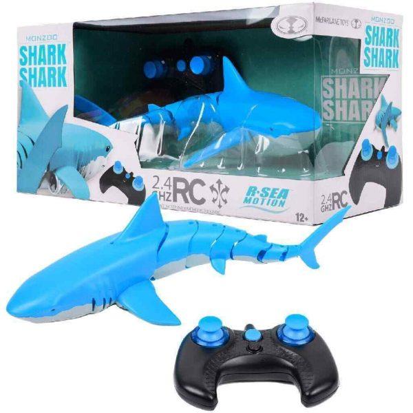Monzoo Shark-Shark Rc Blue Realistic Simulation
