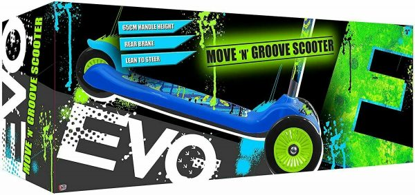 Move n Groove Evo Blue 3 Wheels Scooter