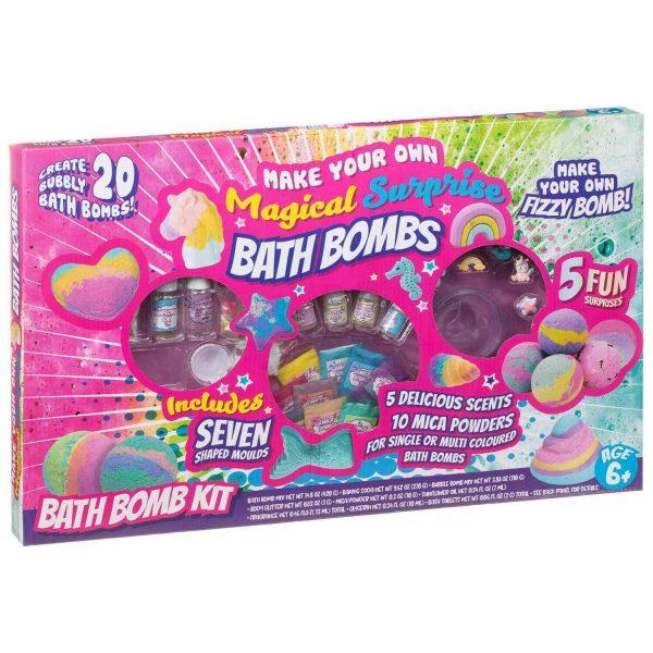 Magical Fizzy Surprise Bath Bombs