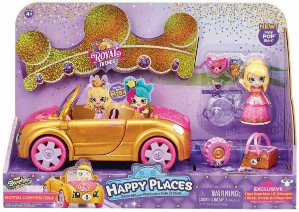 Shopkins Happy Places Royal Trends-Princess Berly Doll With Pop Skirt