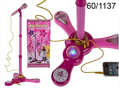 Stage Karaoke Microphone Stand With Light & Sound