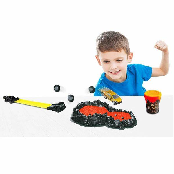 Lava Splat Track Car & slime Playset