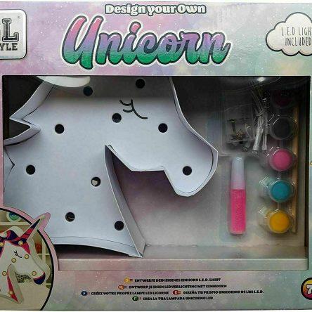 GL Style Unicorn Led Light Up Design Your Own Craft Paint Kit