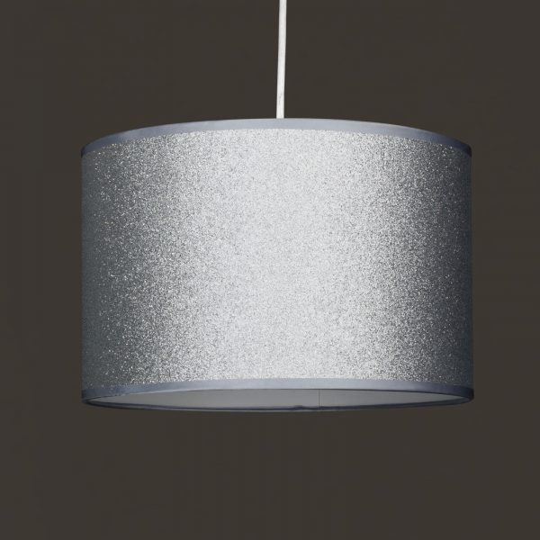 Silver Glitter Easy Fit Ceiling Light Shade