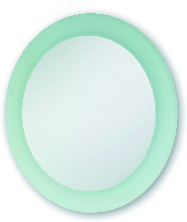 Round Frosted Mirror