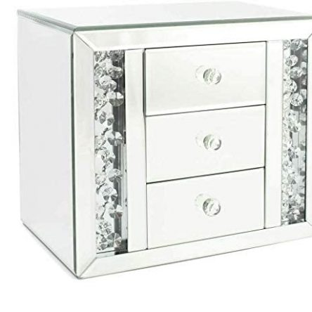 Floating Crystal 3 Drawer Mirror Jewellery Box