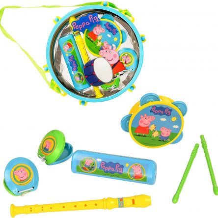 Peppa Pig Pack Away Drum / Kids Musical Instrument Set
