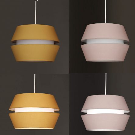 2 Tier Ceiling Lightshade Pendant Cotton Fabric Non Electric Shade