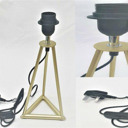 Elegant Design Bedside Living Room Bermuda E27 Gold Table Lamp (Base Only)